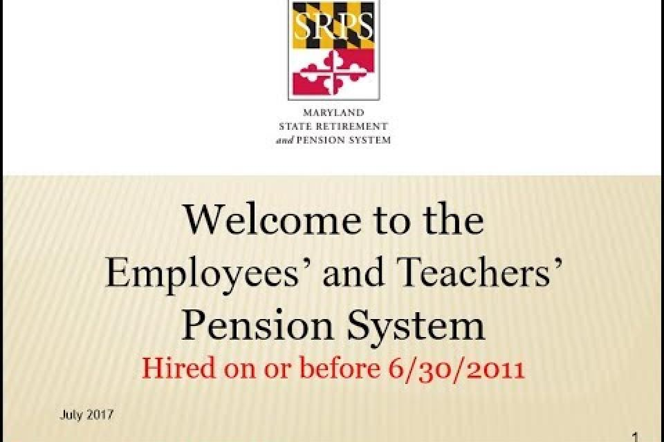 Employees' and Teachers Pension System Video
